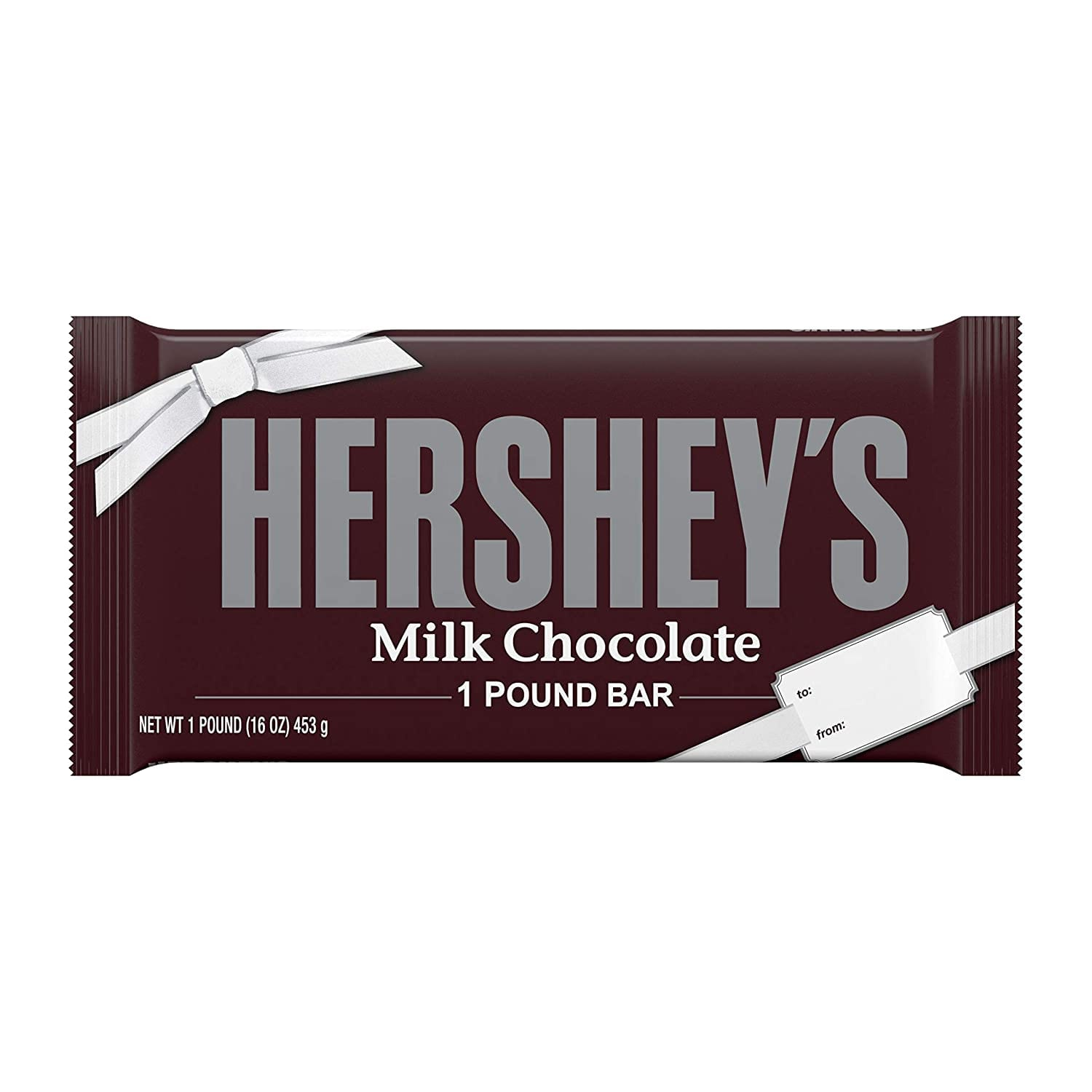 Amazon.com : HERSHEY'S Milk Chocolate Candy, Valentine's Day Gift, 1 Lb. Bar : Candy And Chocolate Bars : Grocery & Gourmet Food $6.77