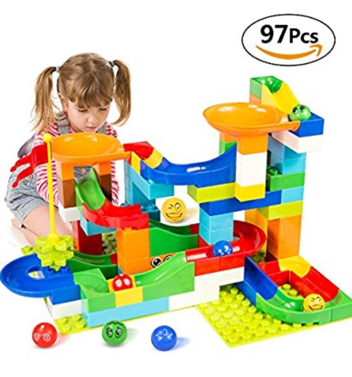 Building Blocks for Kids (97Pcs) + Free Prime Shipping $19.79