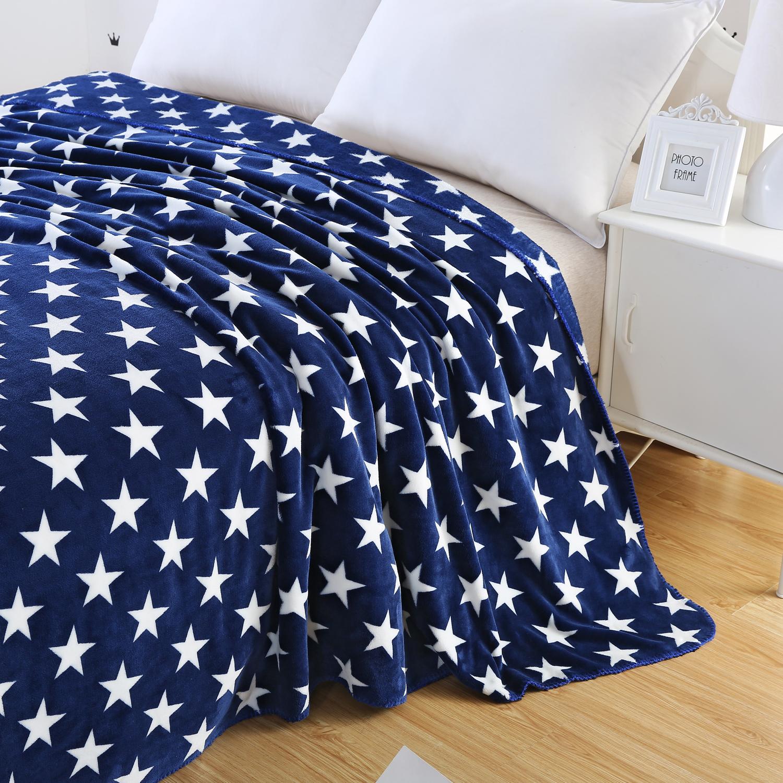 "80""x90"" Navy Blue Fleece Blanket w/ Stars $8.99 @ Amazon + FS"