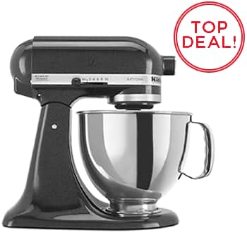 KitchenAid 5QT Artisan Mixer - Caviar $179 AR & Coupon Code, free shipping and no tax in most states