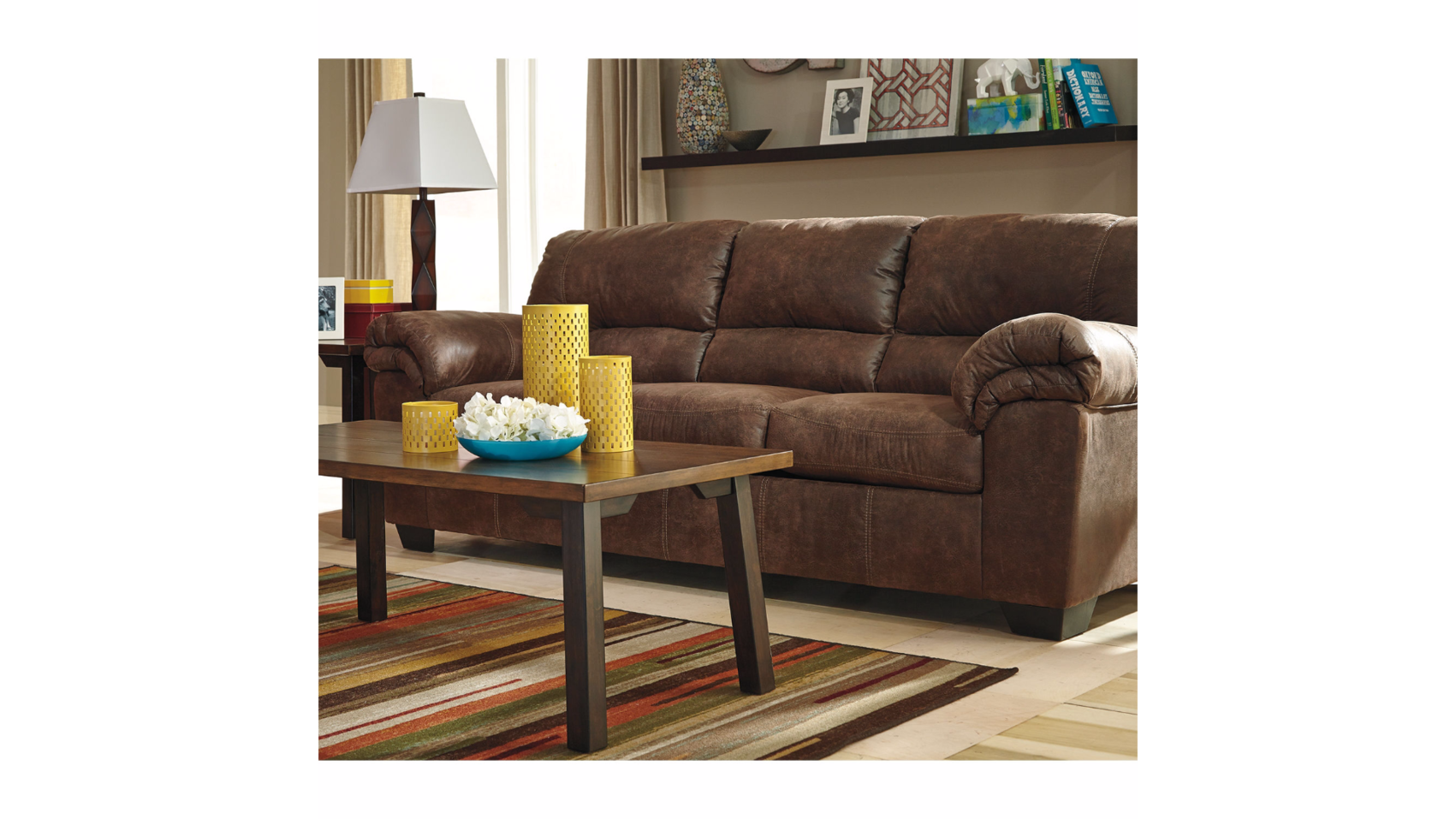 Signature Design By Ashley Benton Coffee Color Sofa For