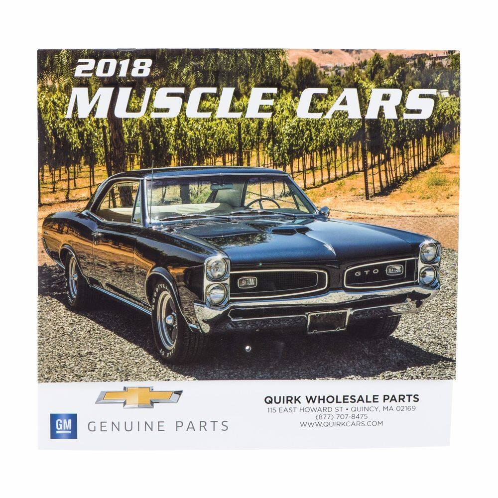 BRAND NEW 2018 Muscle Car Calendar GM Genuine Parts $5.95 Free ...