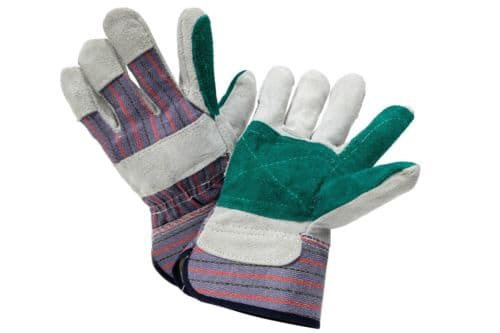 100 PAIRS Of Multipurpose Work Gloves Cow Split Leather $49.95