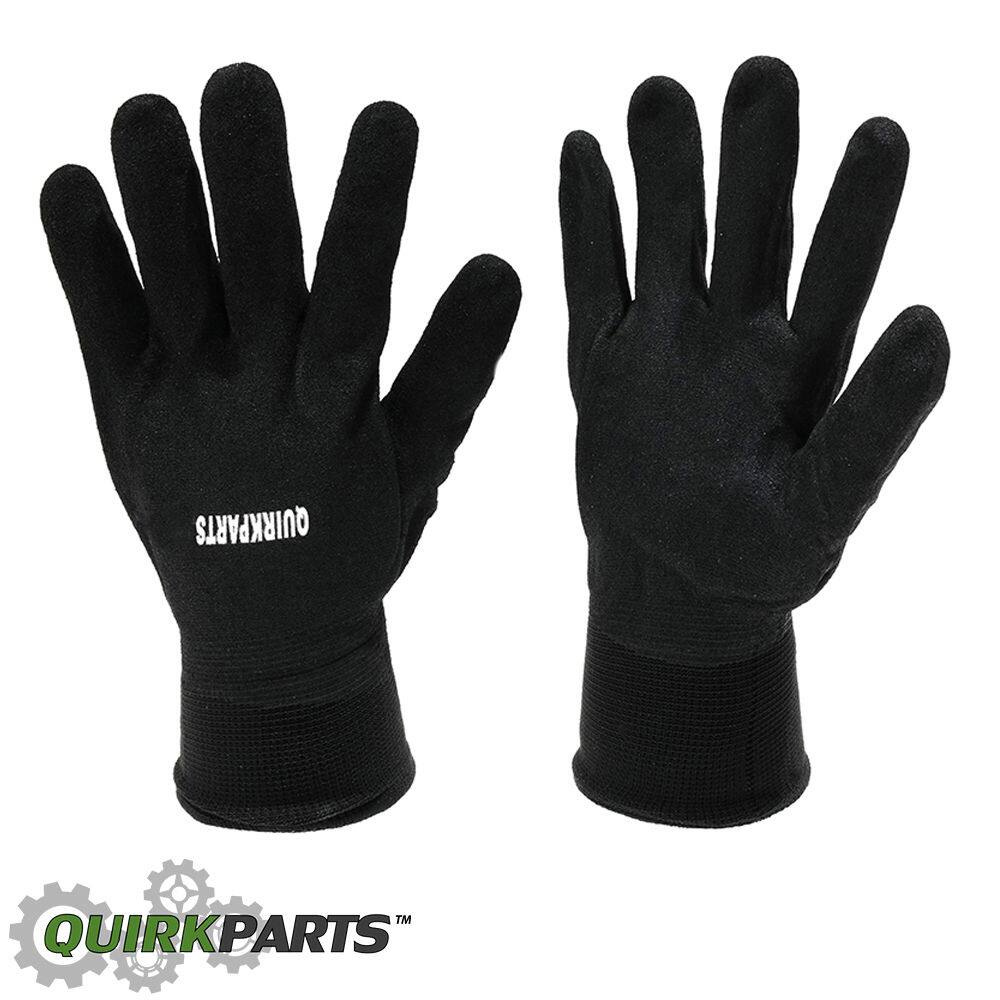 100 PAIRS Of BRAND NEW Black Lined Protection Sandy Nitrile Coated Winter Gloves $29.95 Free Shipping