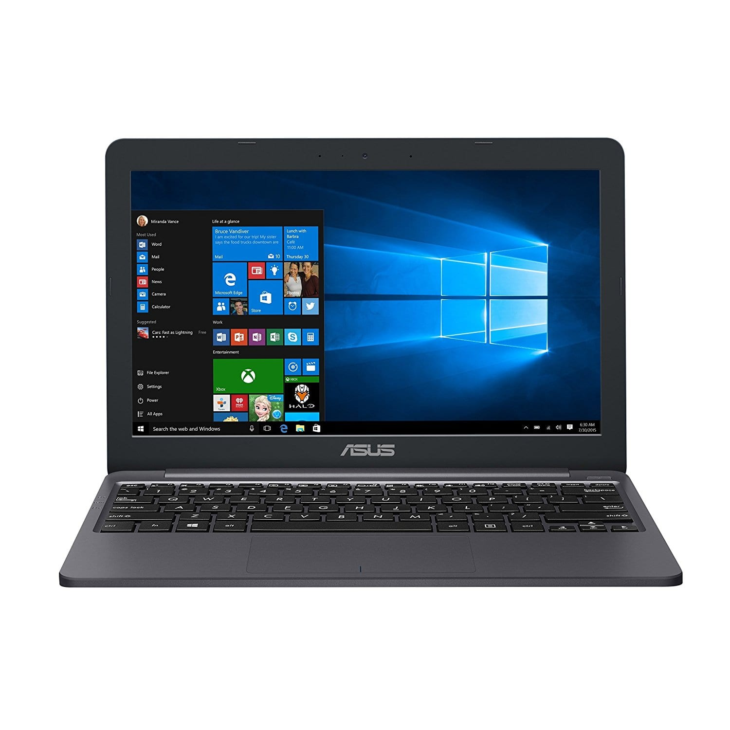"ASUS VivoBook E203NA-YS03 11.6"" Featherweight design Laptop, Intel Dual-Core Celeron N3350 2.4GHz processor, 4GB DDR3 RAM, 64GB EMMC Storage, App based Windows 10 S $199 Amazon"