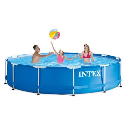 "Target: Intex 12' x 30"" Metal Frame Above Ground Pool with Filter Pump $41.98 YMMV"