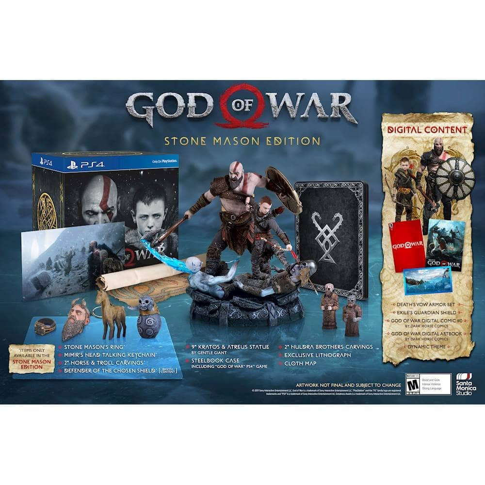 GCU works on God of War Collector's/Mason Editions $100
