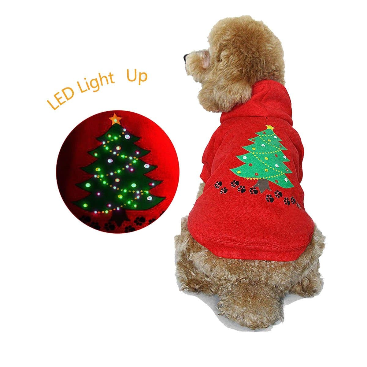 Light Up Christmas Tree Dog Sweater Amazon 799ac Slickdealsnet