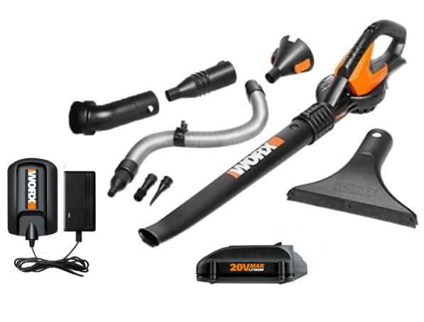 WORX 20V Blower/Sweeper (WG545.1) with 8 Attachments - $34.99 & Free Shipping