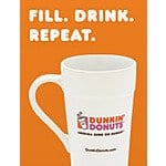 Dunkin donuts 22 oz cold drink sipper 2 pack