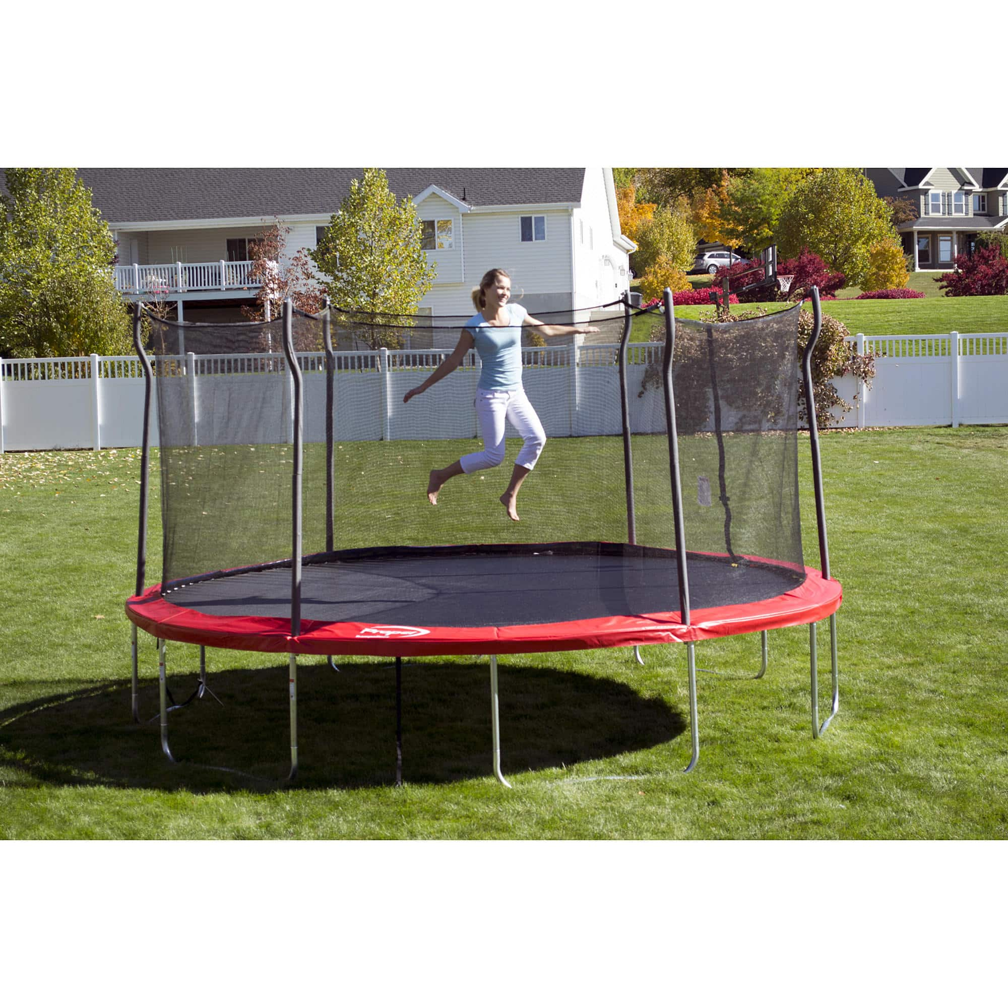 Propel Trampolines 15' Enclosed Trampoline w/ Anchor Kit 300lb limit $249.99 w/ $52.50 CASHBACK in sywr points @ sears w/ free store pickup $200