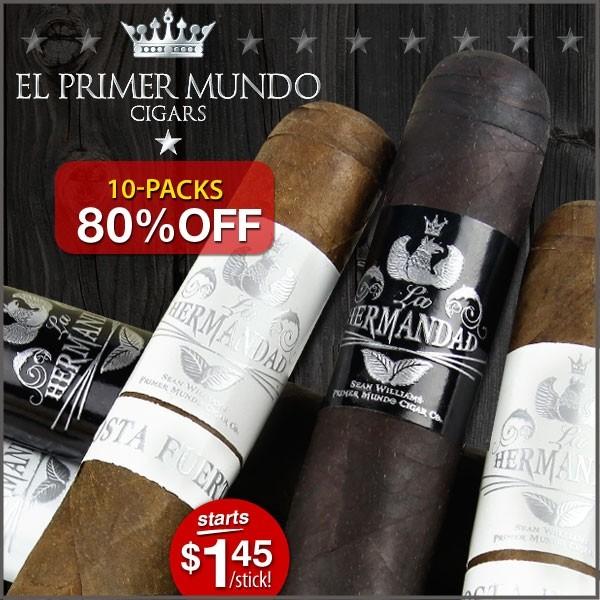 El Primer Mundo Cigars - 80% Off @ CigarPage.com - 10 Packs Start @ $14.50, Shipped!!!