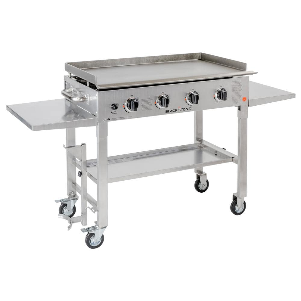 Blackstone 36 in. 4-Burner Propane Gas Grill in Stainless Steel with Griddle Top - $299.99