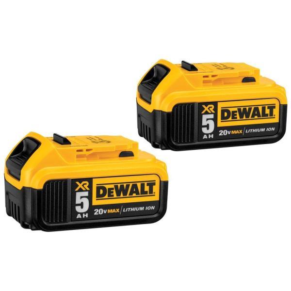 20-Volt MAX XR Lithium-ion Premium Battery Pack 5.0Ah (2-Pack) $117.88