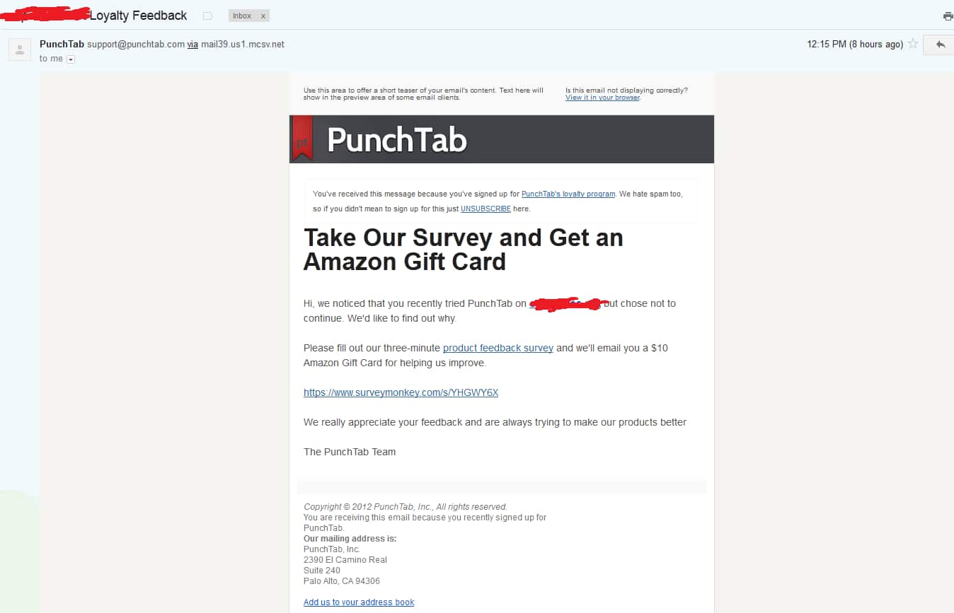 $10 Amazon Gift Card code for taking short survey