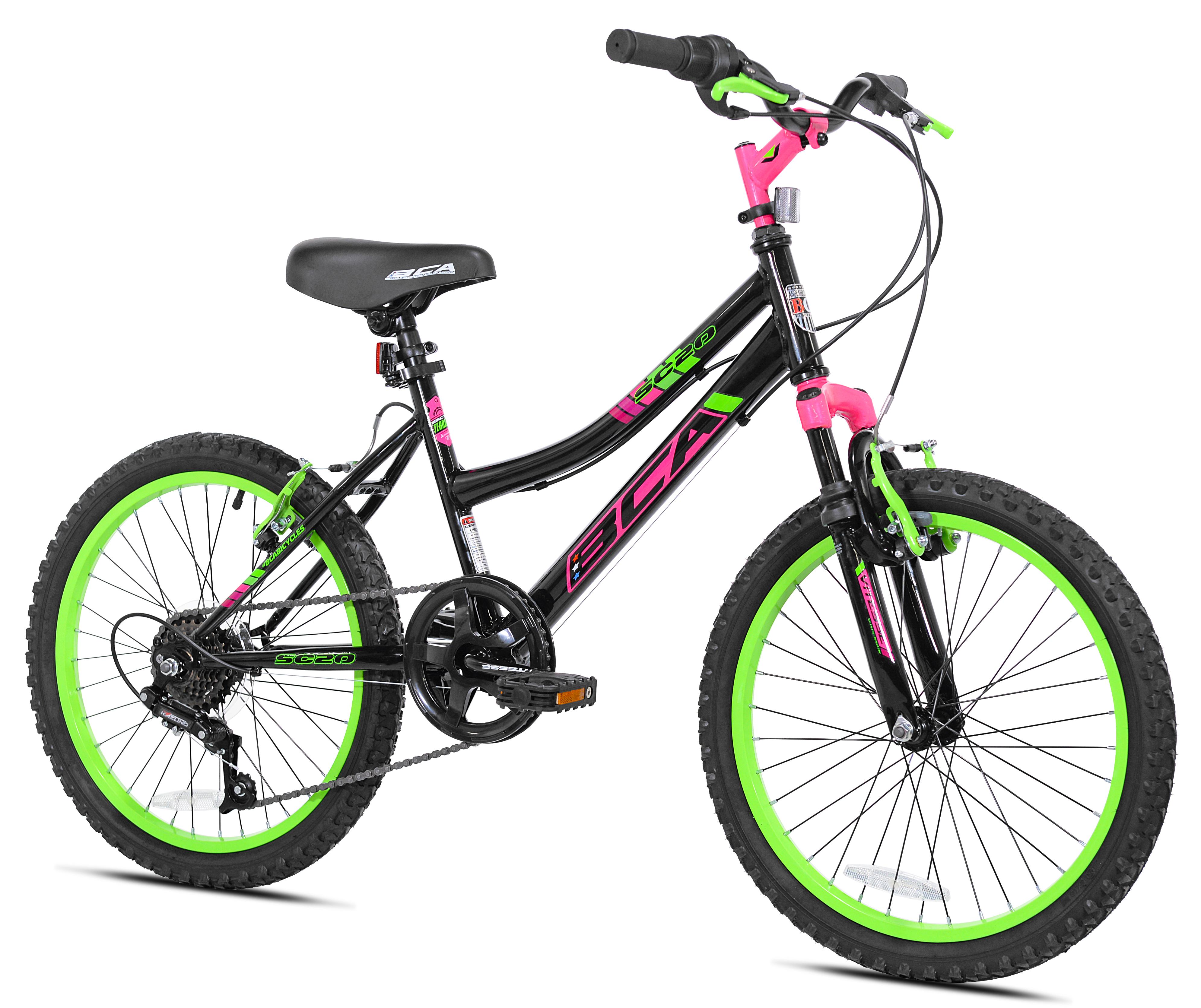 "BCA 20"" Girls', SC20 Bicycle, Black/Green $45 (55% off) in Walmart store (YMMV)"