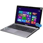 "Asus X550LA-RI7T27 15.6"" HD Touch Display Laptop PC with Intel Core i7-4500U 1.8GHz, 8GB DDR3, 1TB HDD, Windows 8 64Bit, MacAfee 1 Year Free Refurbished $469.99 after $30.00 rebate"