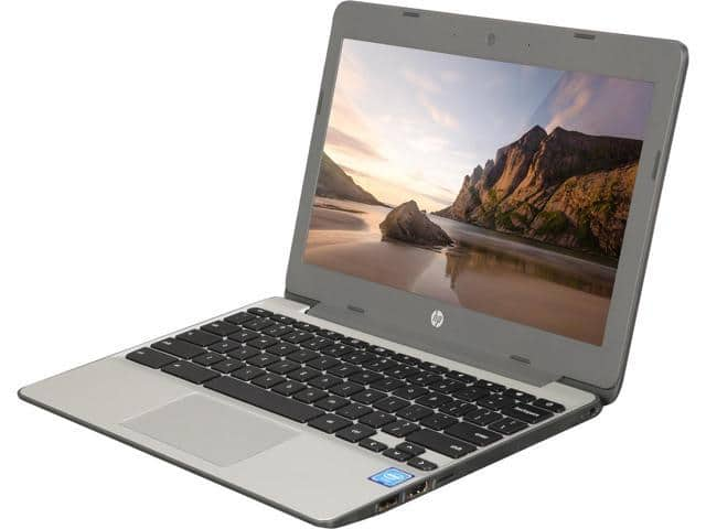"HP 11-V010NR Chromebook Intel Celeron N3060 (1.60 GHz) 4 GB Memory 16 GB SSD 11.6"" Chrome OS Refurbished $124.99"