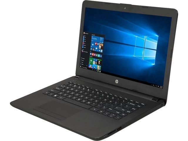 "HP Laptop 14-bw012nr AMD E2-Series E2-9000E (1.5 GHz) 4 GB Memory 32 GB SSD 14.0"" Windows 10 Home refurbished $99.99 after $20.00 rebate and USD $10 off w/ promo code ""701NPEDS37"""