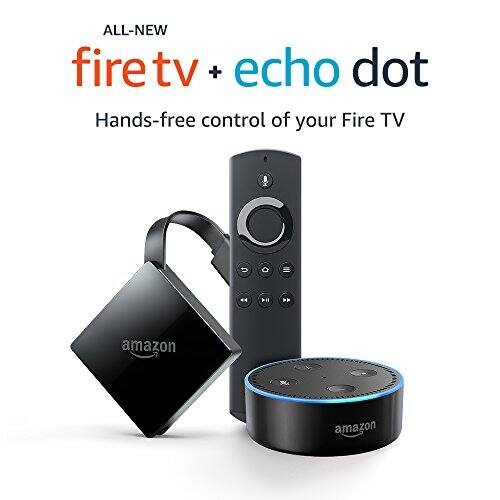 Fire TV with 4K Ultra HD and Alexa Voice Remote (Pendant Design) + Echo Dot $59.98