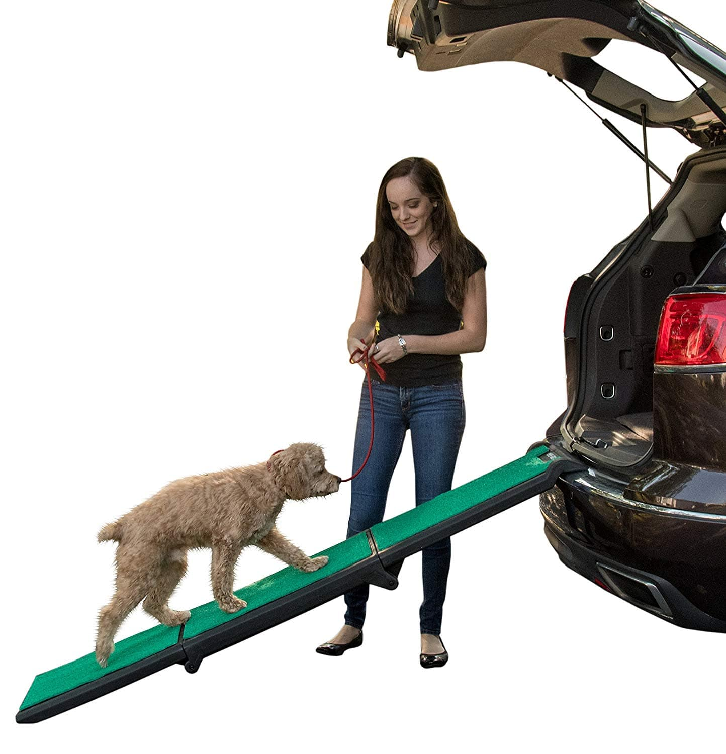 """Pet Gear Travel Lite Ramp with supertraX Surface for Maximum Traction 71"""" x 16.4"""" $87.99"""
