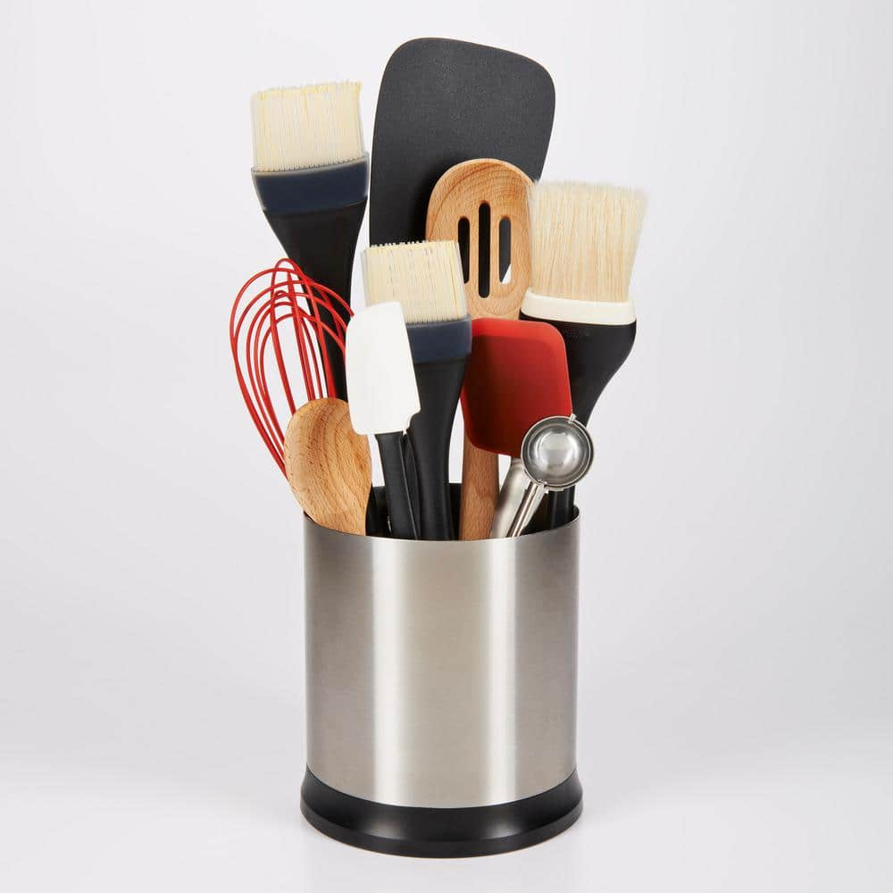 Good Grips Stainless Steel Utensil Holder with Rotating Base $14.99 with $5 coupon