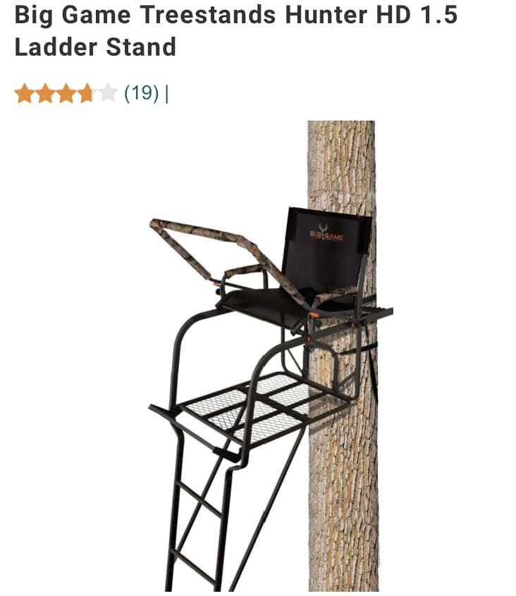 Hunting Treestand ladder stand big game brand 18 foot dickssportinggoods.com online 1 day flash sale only $99