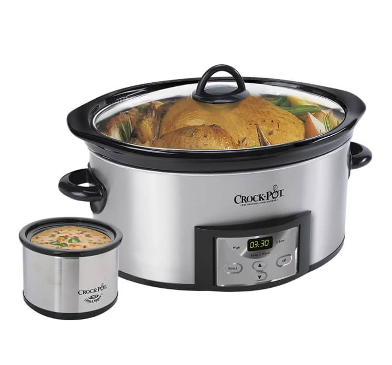 Crock-pot Countdown 6-Quart Slow Cooker and Little Dipper Warmer - Stainless-Steel/Black $24.99 Bestbuy.com free store pickup