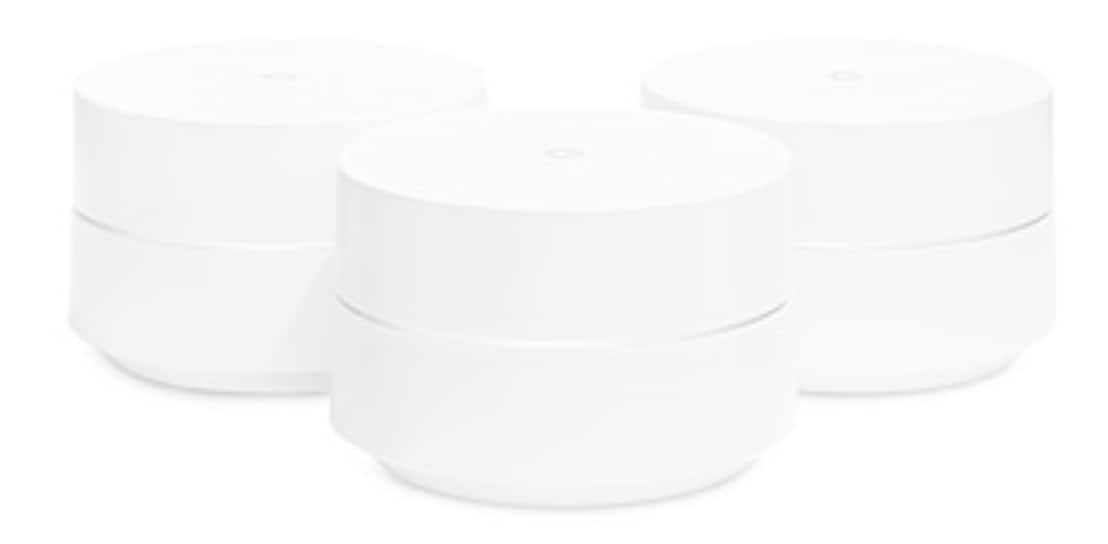 Google WiFi Points with Power Adapters, 3-Pack $207
