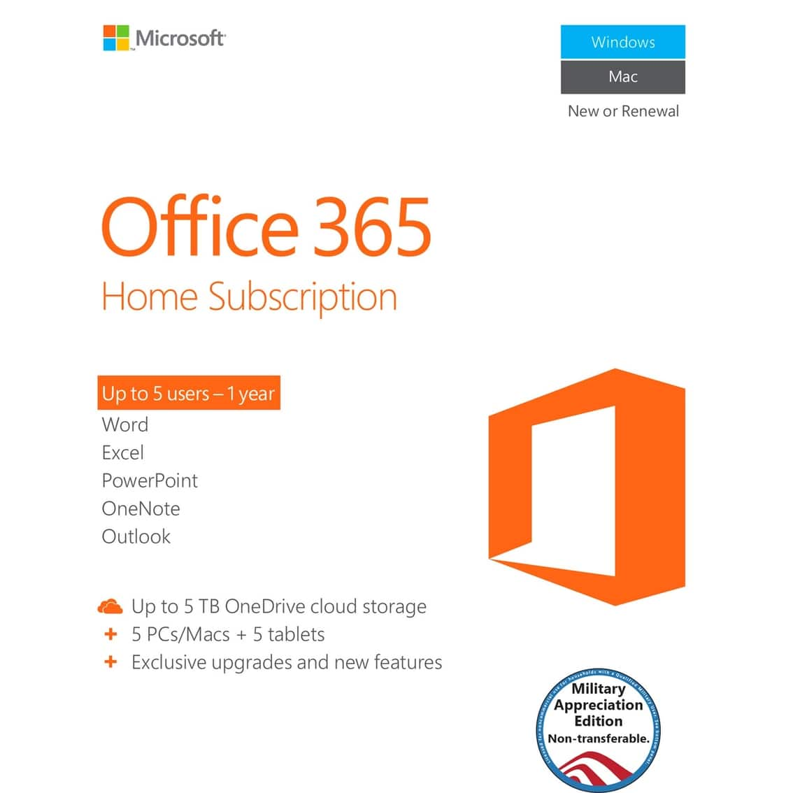 AAFES (Military Only): Microsoft Office 365 Home Subscription ...