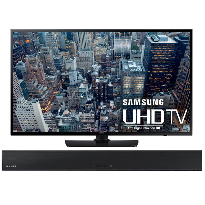 "Samsung 60"" UN60JU6400 4K Ultra HD LED Smart TV & Soundbar Bundle - $898.97 FS"