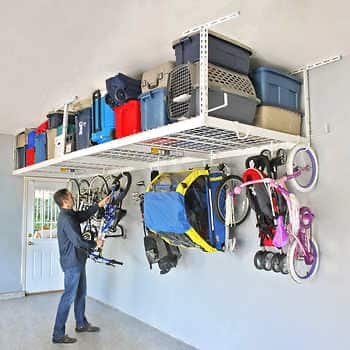 Costco : SafeRacks Overhead Garage Storage Combo Kit, Two 4 ft. x 8 ft. Racks, 18-piece Deluxe Hook Accessory Pack  - $239.99