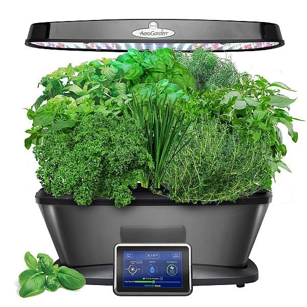 AeroGarden Bounty Elite with Gourmet Herb Seed Pod Kit, Platinum $167.99 - Amazon