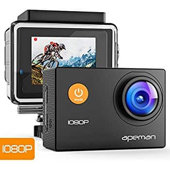 Apeman Action Cam 1080P with Accessories $24.79