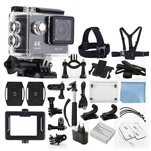4K Ultra HD DV 12MP 1080p 60fps Sports Action Camera + Full Accessory Bundle $46.95