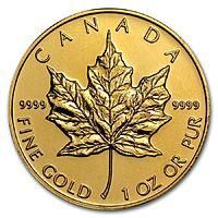 eBay Deal: eBay Deal: 1 oz Gold Canadian Maple Leaf - Random Year @ $1255 or $1181