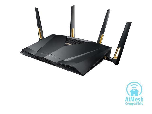 ASUS RT-AX88U AX6000 Dual-band Wi-Fi Router,Next-Gen Wi-Fi 6, Wireless 802.11Ax, 8 x Gigabit ports - $279.99 @ NeweggFlash AC