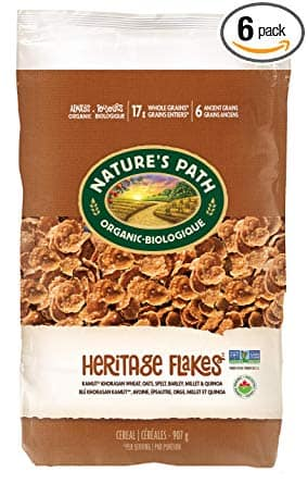 Nature's Path Heritage Flakes Whole Grains Cereal, Healthy, Organic, 32 Ounce (Pack of 6) - $25.19 with 15% S&S