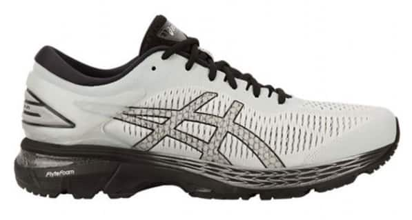 4efee2f778 Glacier Grey/Black ASICS Men's GEL-Kayano 25 Running Shoes $80 Free ...