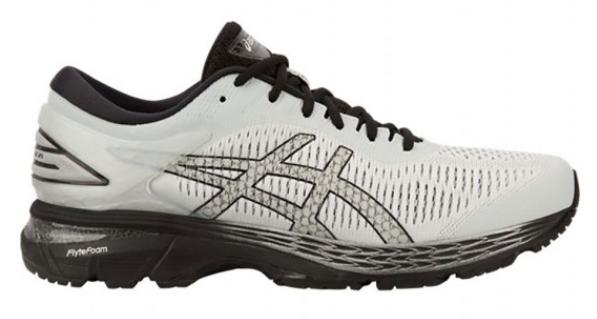 Glacier Grey/Black ASICS Men's GEL-Kayano 25 Running Shoes $80 Free S/H at Jackrabbit