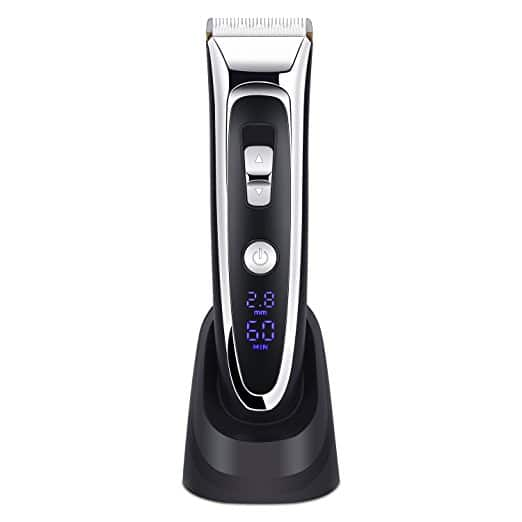 Rechargeable Hair Clippers For Men Hair Trimmer LED Display Haircut Kit Ceramic Blade $17.99