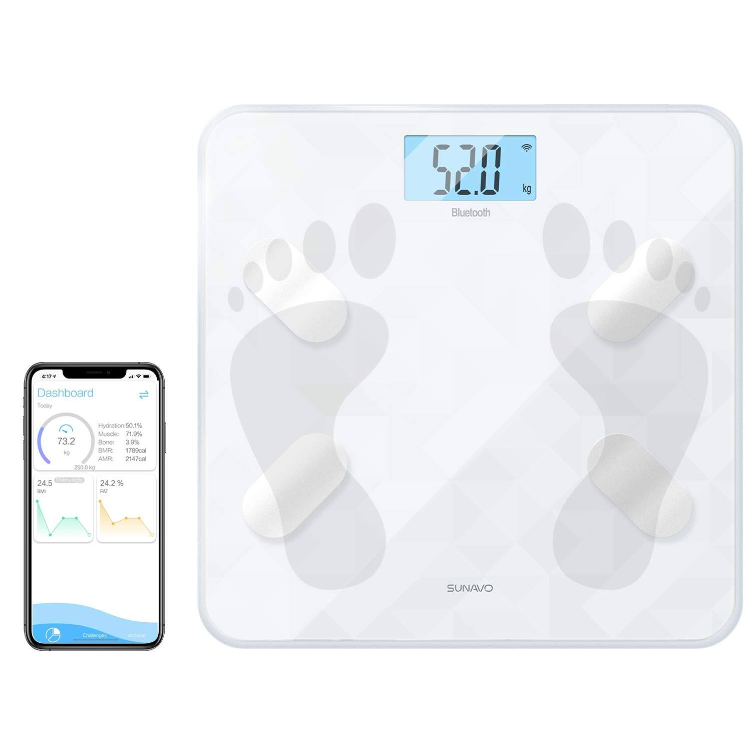 Bluetooth Body Fat Scale - $16.89 Free Shipping w/ Prime or $25 order