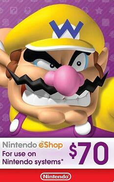 Nintendo $70 eShop Digital Cards US $62.98