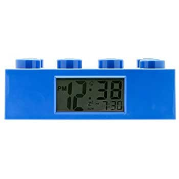 LEGO Blue Brick Kids Light Up Alarm Clock @amazon for reduced price 14.99$ (50% off) $15