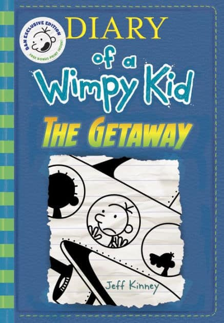 Books 50% off at B&N example - The Getaway (B&N Exclusive Edition) (Diary of a Wimpy Kid Series #12) for $8.37