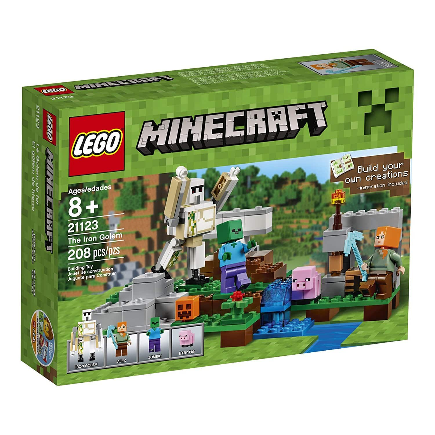 Lego Minecraft iron golem 21123 at reduced price $11(45% off) from $19.99 @amazom