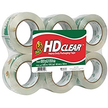 Duck HD Clear Heavy Duty Packaging Tape Refill, 6 Rolls, 1.88 Inch x 109.3 Yard for $20.25 (37% off) @amazon
