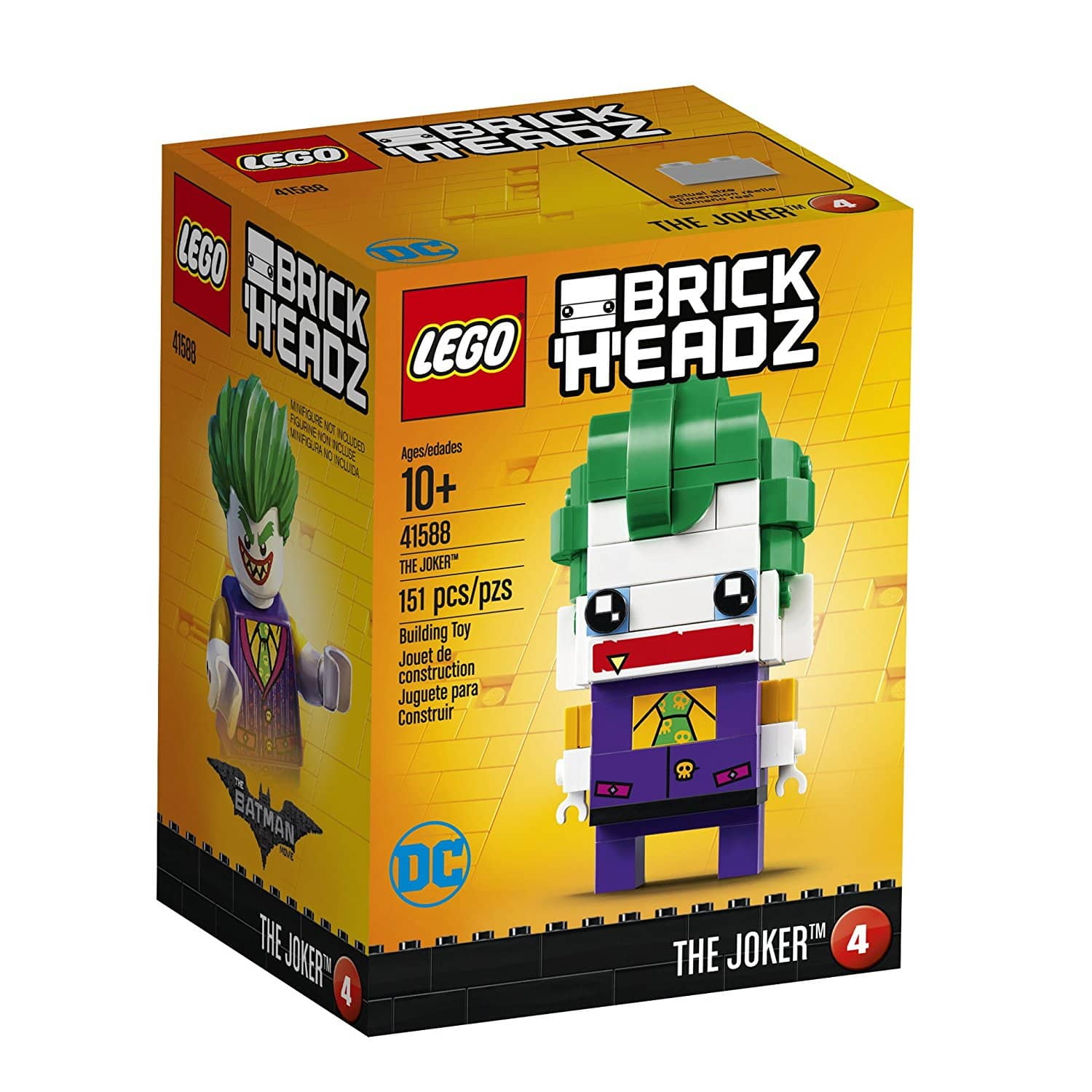 LEGO BrickHeadz The Joker 41588 - $5(50% off) @amazon as add-on item
