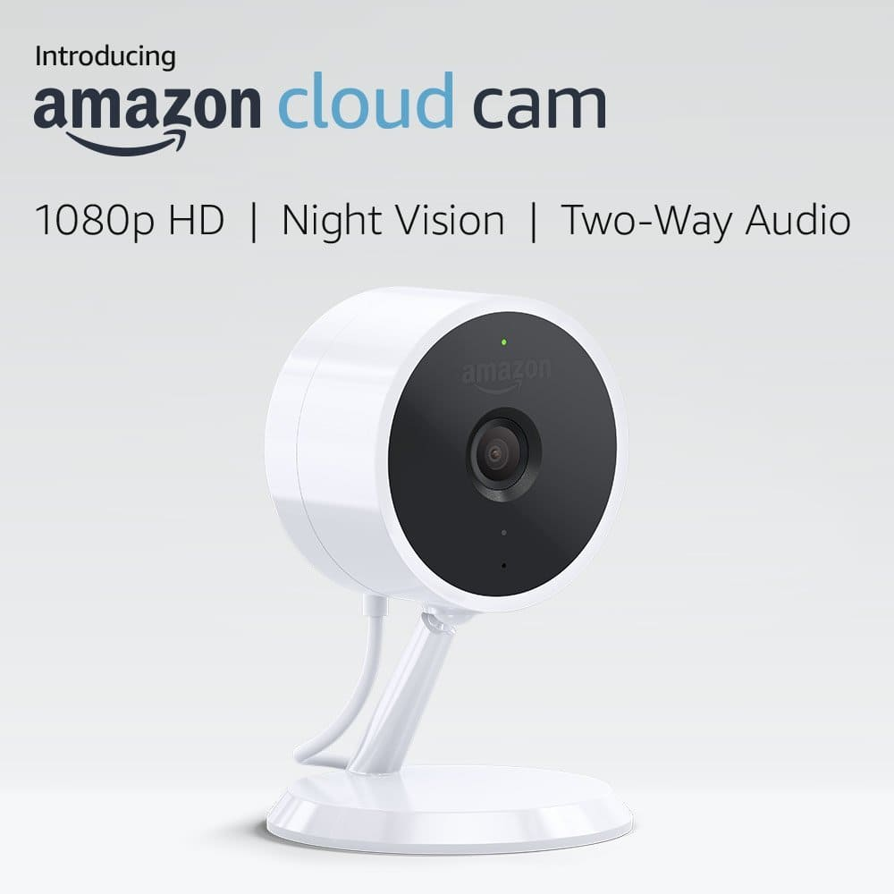 Amazon Cloud Cam Indoor Security Camera, Works with Alexa for $89.99 (25% off) @amazon. Amazon deal of the day.