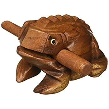 "Deluxe Medium 4"" Wood Frog Guiro Rasp - Musical Instrument Tone Block $1.68 @amazon as add-on item"